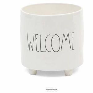 "Rae Dunn ""WELCOME"" Footed Planter"